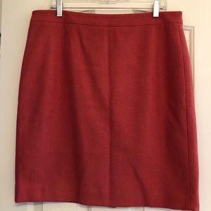 J.crew coral pencil skirt